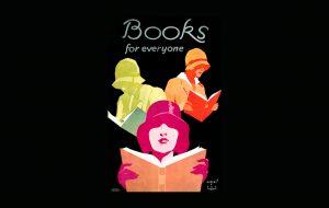 Een lesje boeken in oude posters